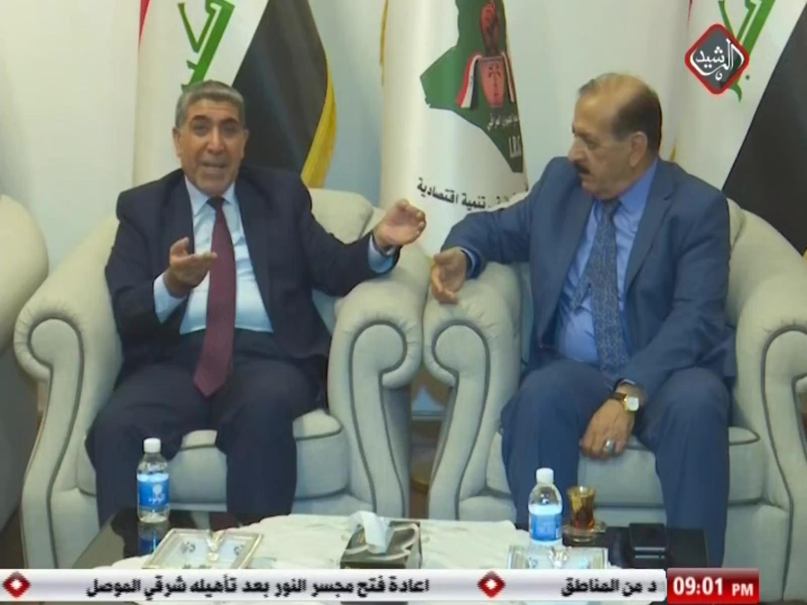 وفد من الهيئة السياسية لسائرون يزور التجمع الجمهوري العراقي لبحث مسار العملية السياسية ومناقشة اكمال تشكيل الحكومة