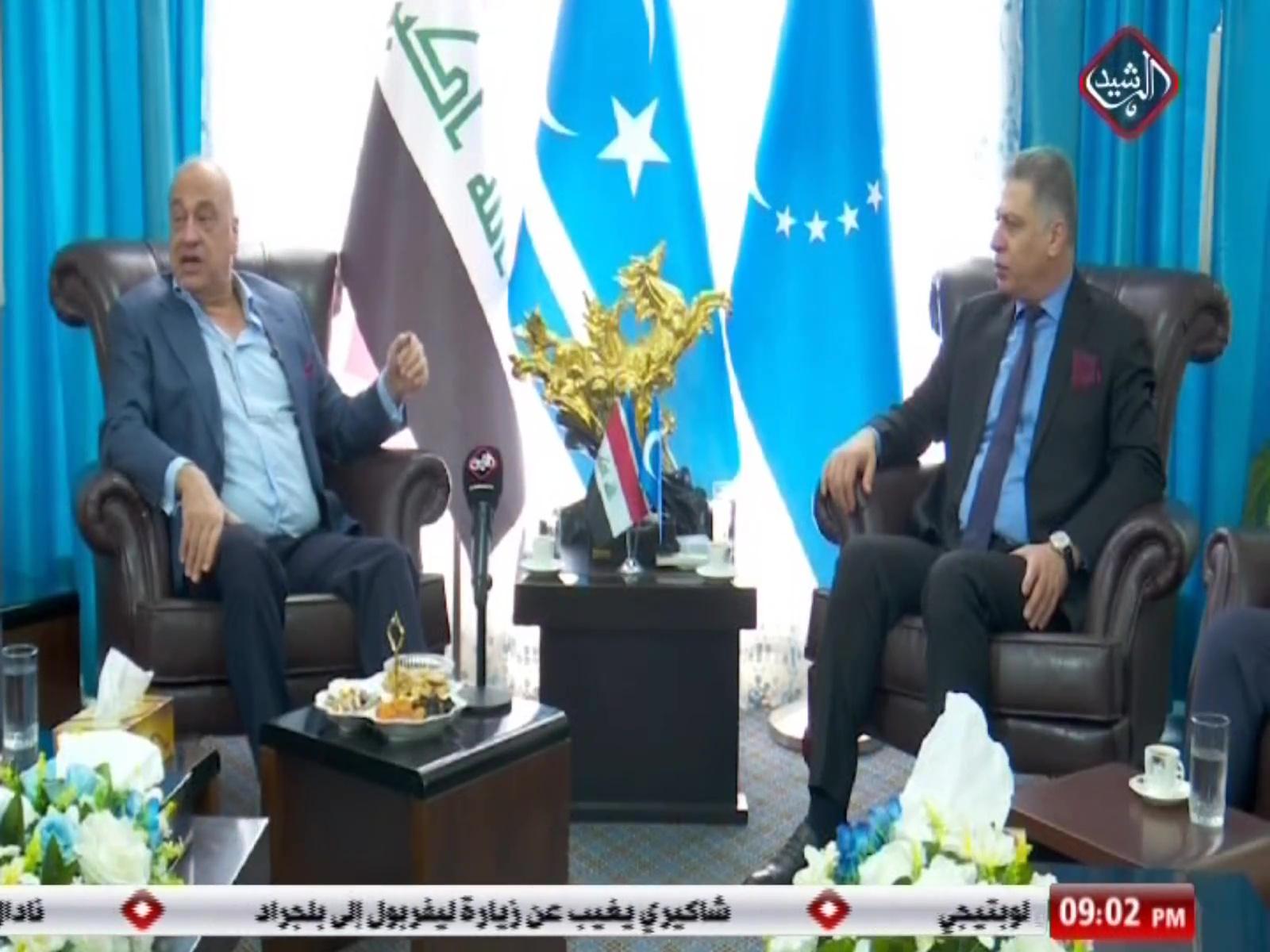 الاستاذ سعد عاصم الجنابي يلتقي رئيس الجبهة التركمانية ارشد الصالحي لبحث القضايا السياسية وفي مقدمتها كركوك