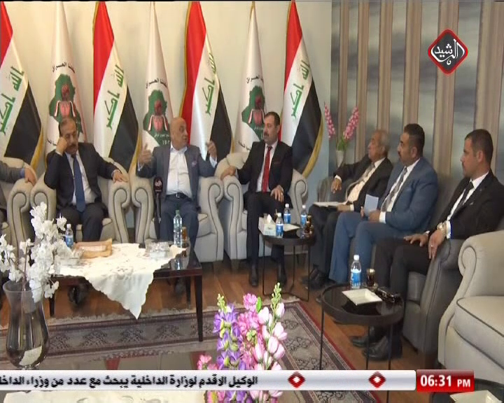 الاستاذ سعد عاصم الجنابي يلتقي اعضاء حزب التجمهوري فرع كركوك لبحث اوضاع المحافظة